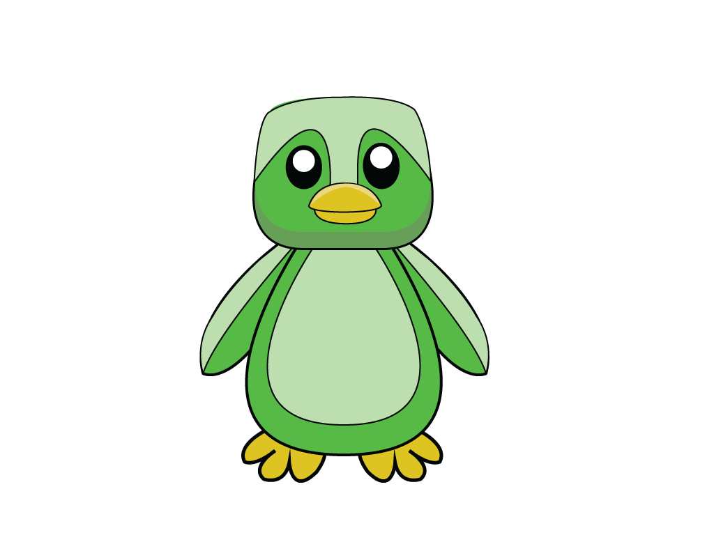 Green Penquin from Feather Feud